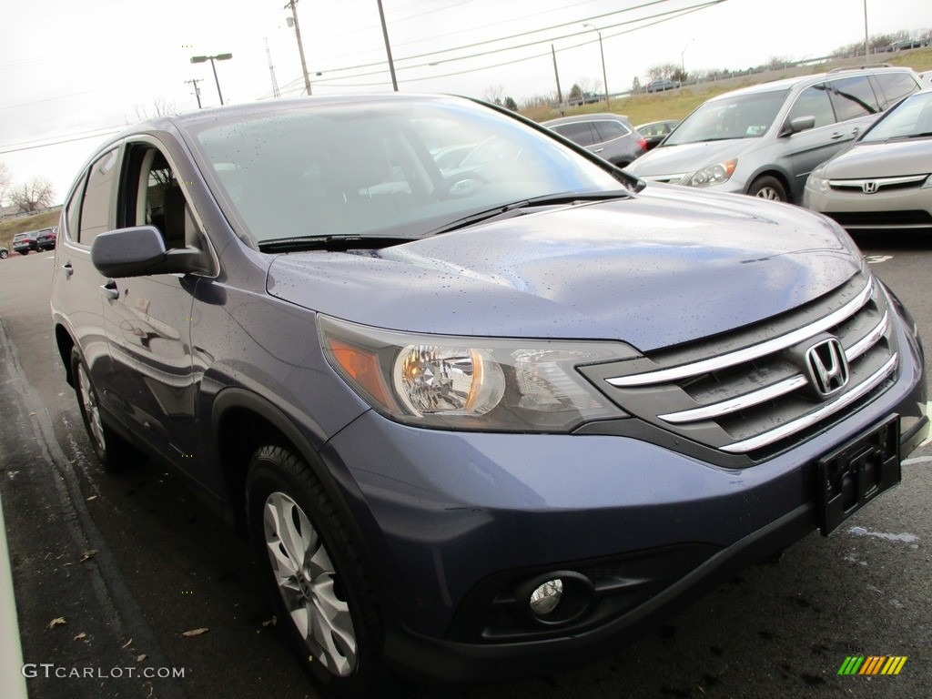 2014 CR-V EX AWD - Twilight Blue Metallic / Gray photo #7