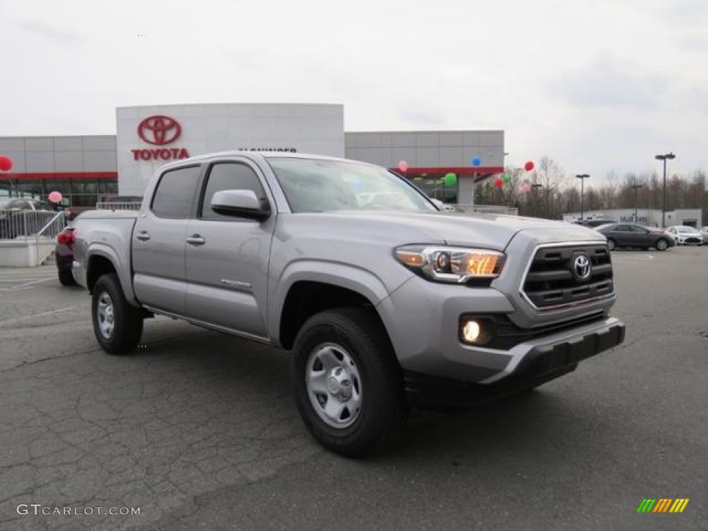 2017 silver sky metallic toyota tacoma sr double cab. Black Bedroom Furniture Sets. Home Design Ideas