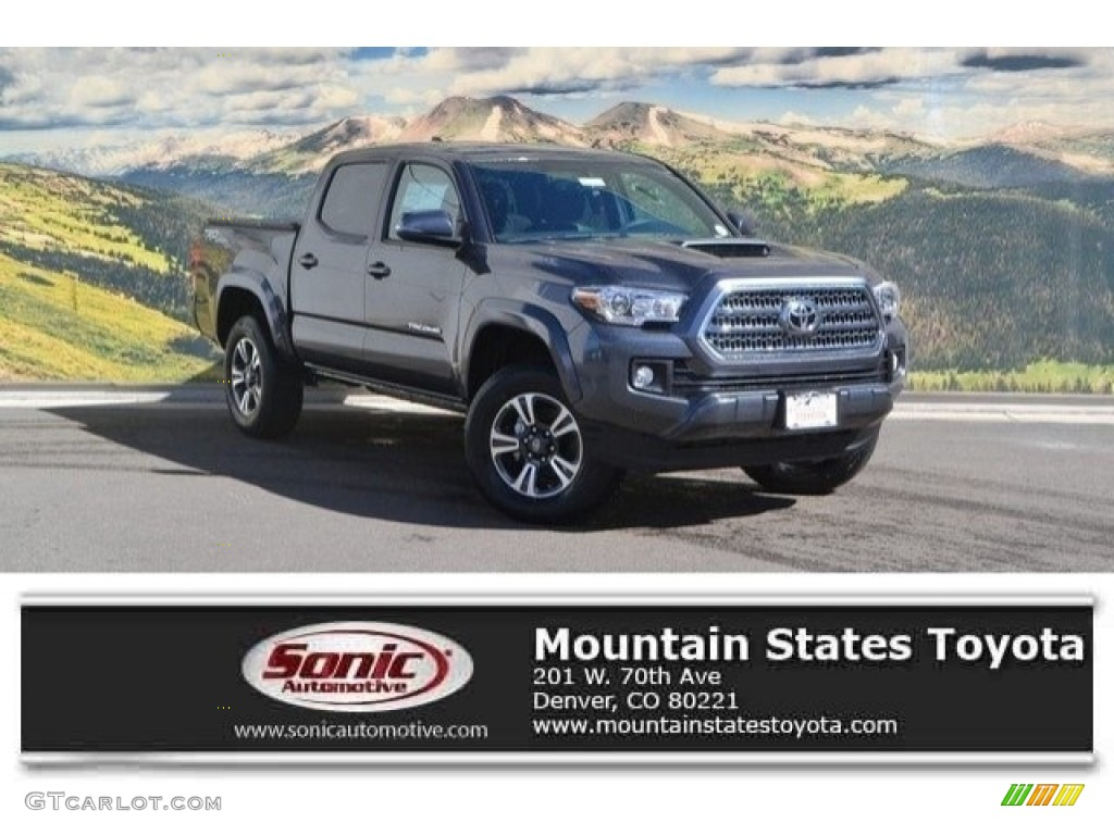 2017 magnetic gray metallic toyota tacoma trd off road double cab 4x4 119050727. Black Bedroom Furniture Sets. Home Design Ideas