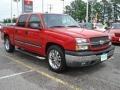 2005 Victory Red Chevrolet Silverado 1500 LS Crew Cab  photo #7