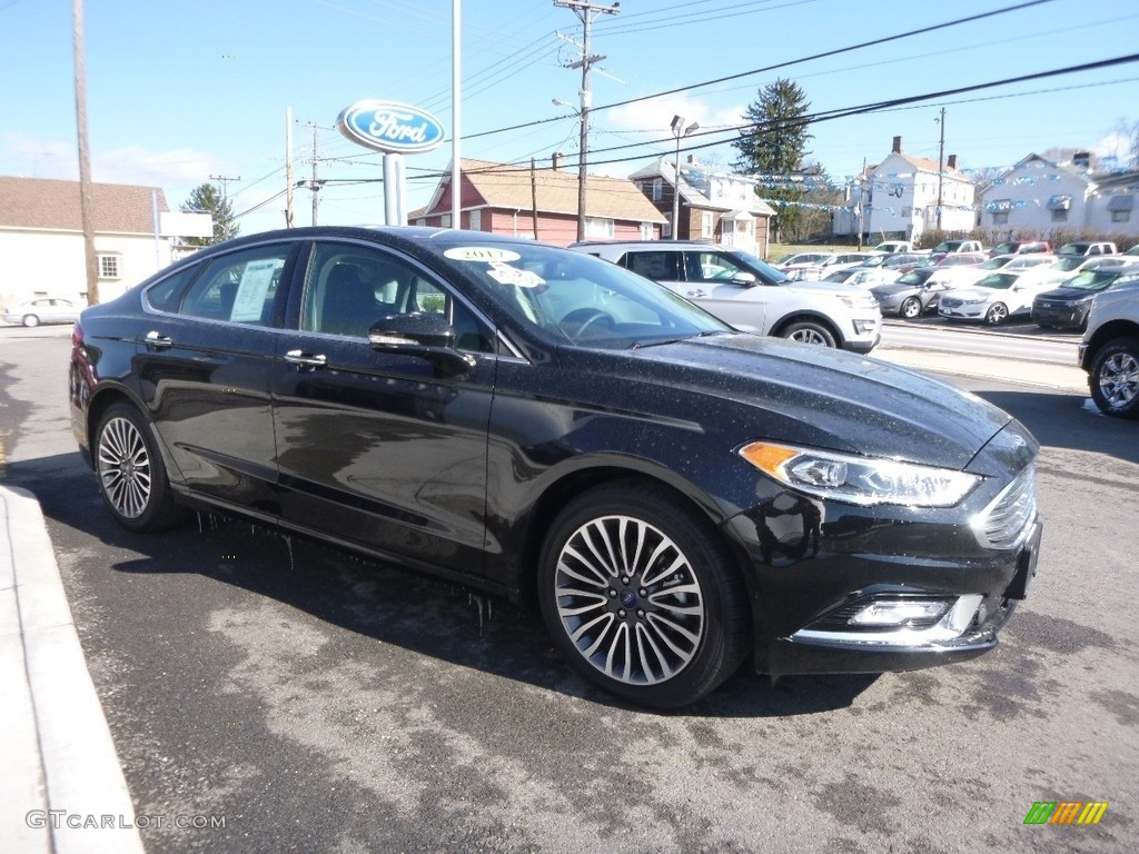 2017 Fusion SE AWD - Shadow Black / Ebony photo #3