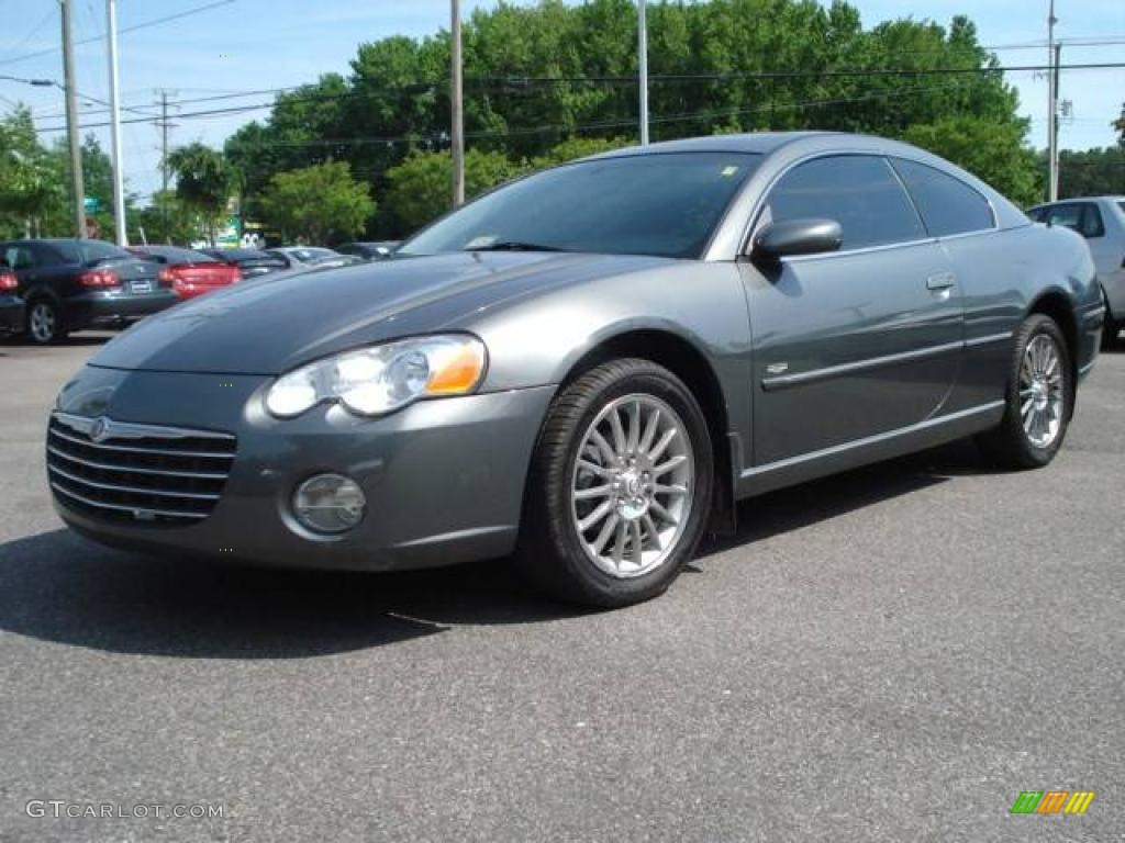 2004 dark titanium metallic chrysler sebring limited coupe. Black Bedroom Furniture Sets. Home Design Ideas
