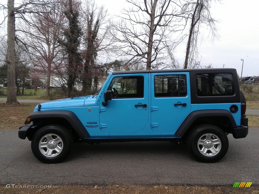 2017 Chief Blue Jeep Wrangler Unlimited Sport 4x4 119090474 Photo