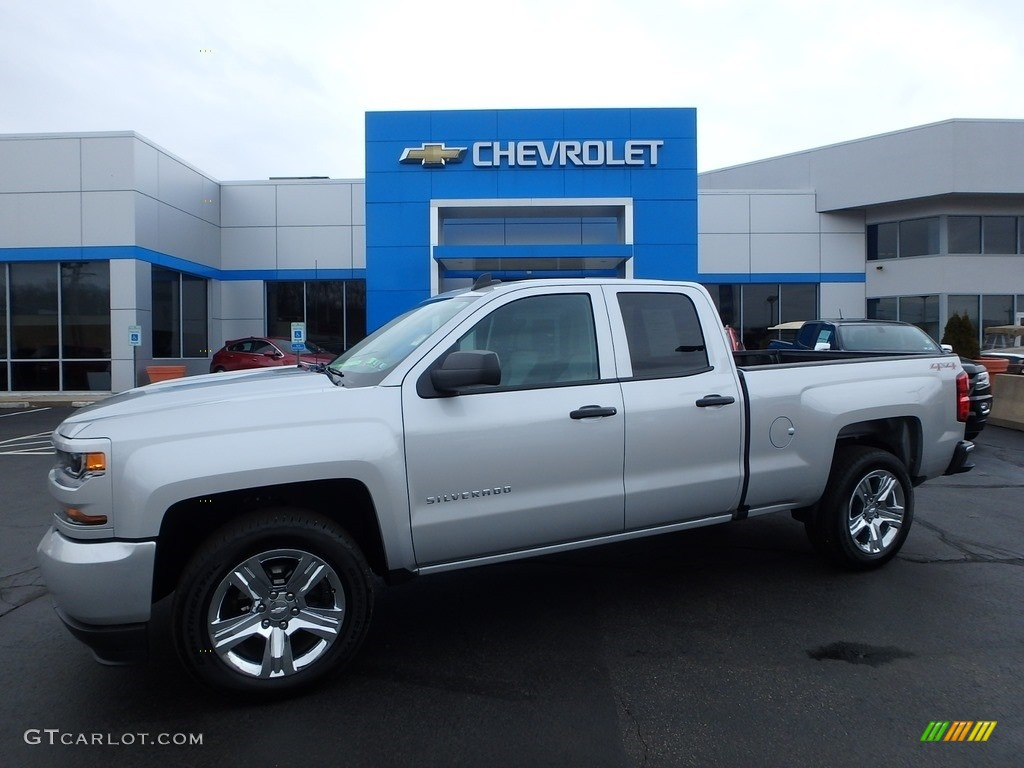 2017 Silver Ice Metallic Chevrolet Silverado 1500 Custom Double Cab