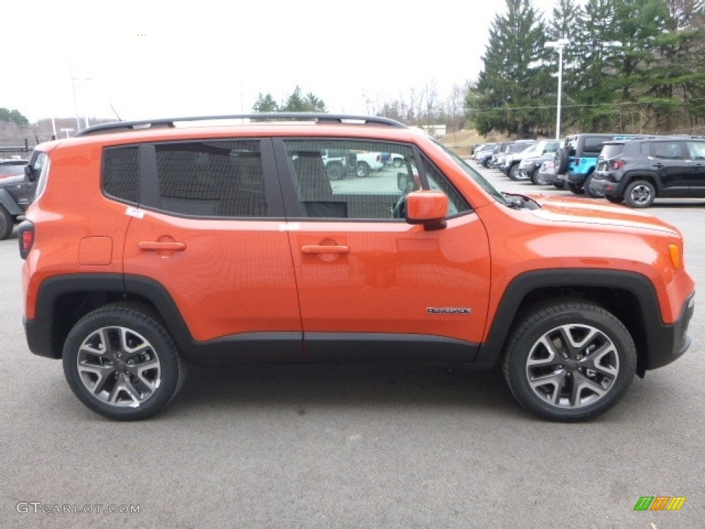 2017 Renegade Latitude 4x4 - Omaha Orange / Black photo #6