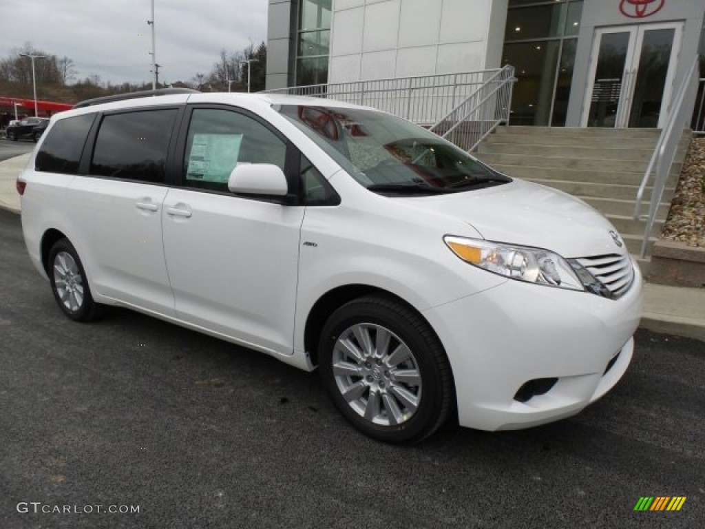 2017 super white toyota sienna le awd 119111628 car color galleries. Black Bedroom Furniture Sets. Home Design Ideas