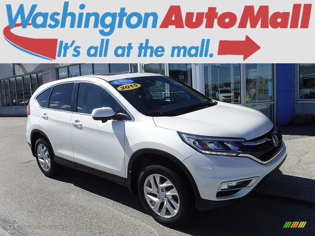 2015 CR-V EX AWD - White Diamond Pearl / Beige photo #1