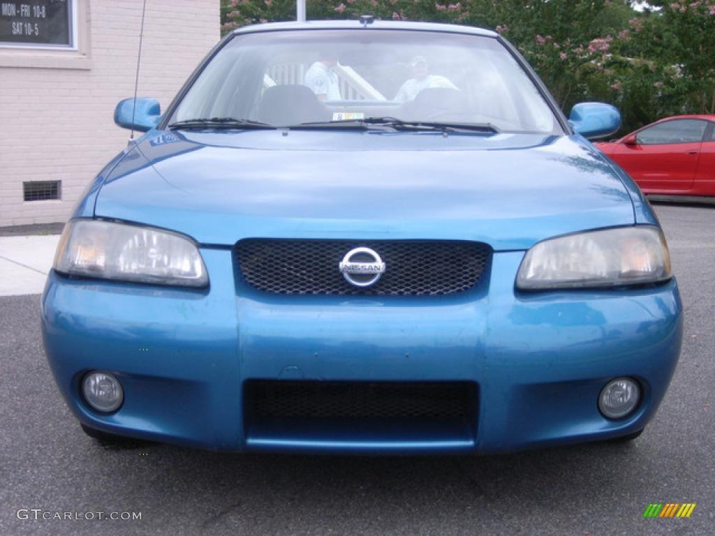 2002 vibrant blue metallic nissan sentra se r 11898921 car color galleries. Black Bedroom Furniture Sets. Home Design Ideas