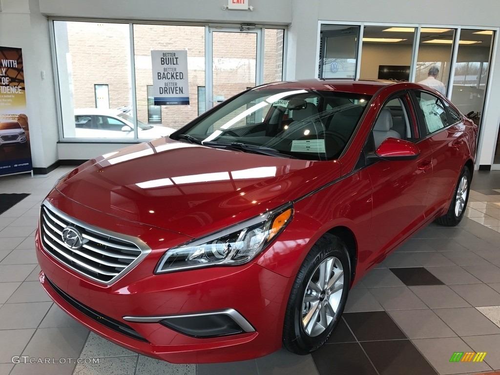 Scarlet Red Hyundai Sonata