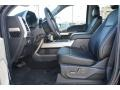 2017 Ford F250 Super Duty Black Interior Front Seat Photo