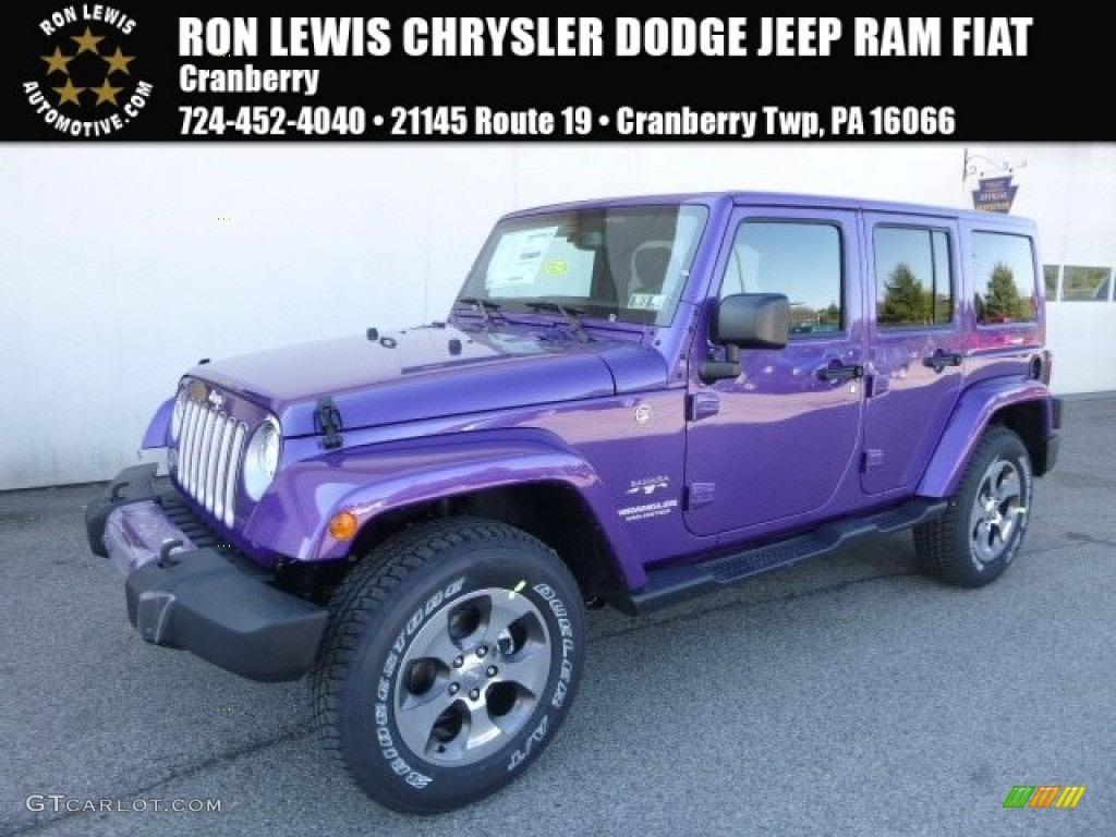 2017 Extreme Purple Jeep Wrangler Unlimited Sahara 4x4 119135026