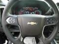 Jet Black Steering Wheel Photo for 2017 Chevrolet Silverado 2500HD #119186981