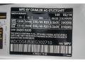 2014 GLK 350 4Matic Polar White Color Code 149