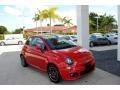 Rosso Brillante (Red Tri-Coat) 2013 Fiat 500 Sport