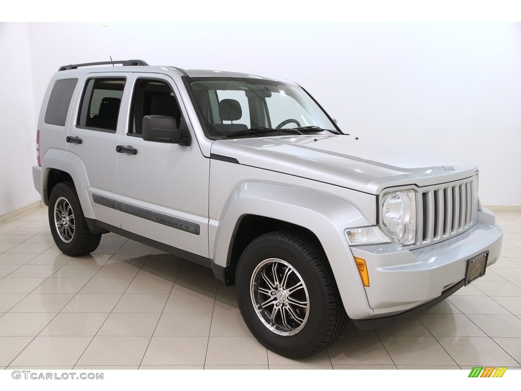 2010 bright silver metallic jeep liberty sport 4x4 119227584 photo 2 car. Black Bedroom Furniture Sets. Home Design Ideas