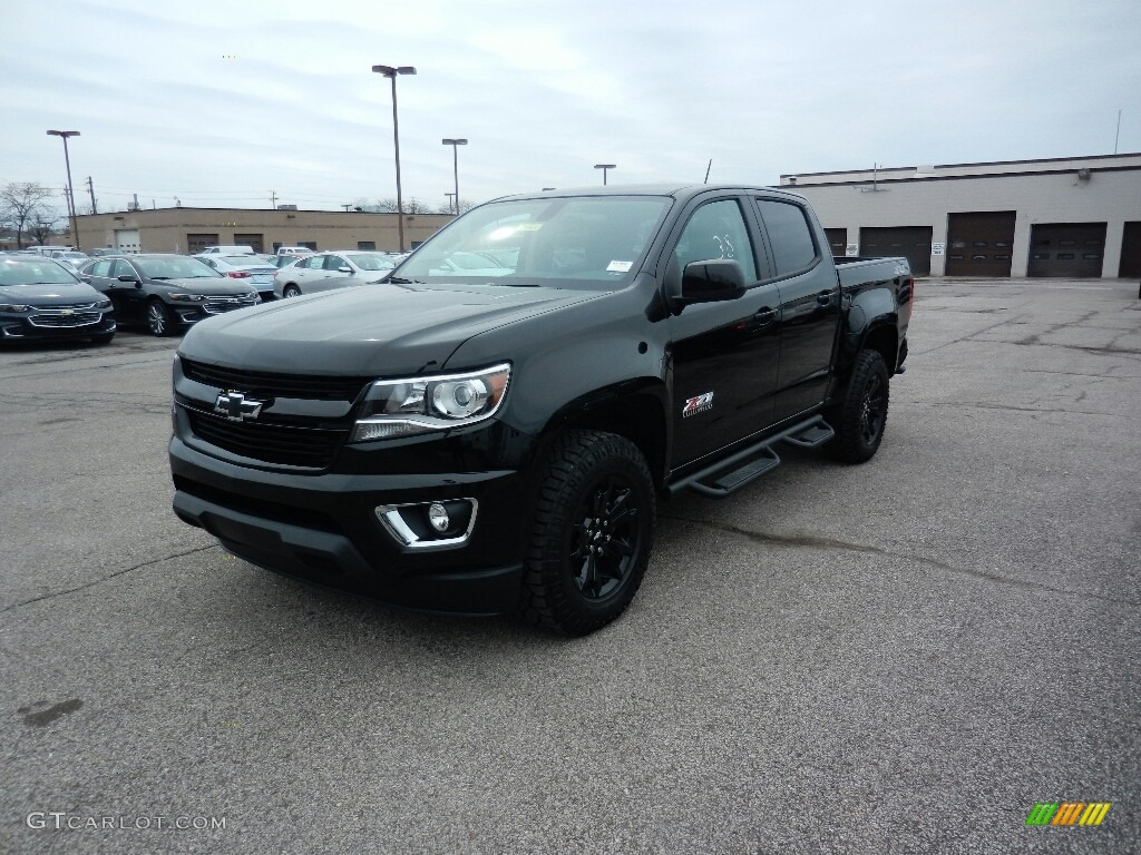 2017 black chevrolet colorado z71 crew cab 4x4 119227566 car color galleries. Black Bedroom Furniture Sets. Home Design Ideas