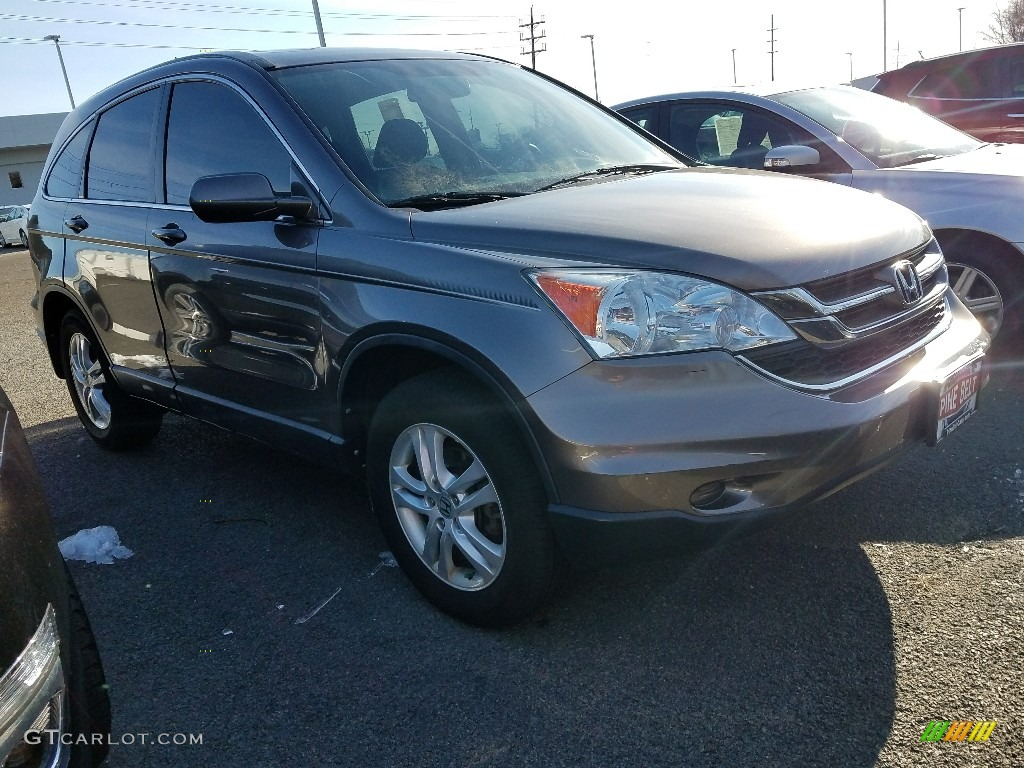 2011 CR-V EX-L 4WD - Urban Titanium Metallic / Black photo #1
