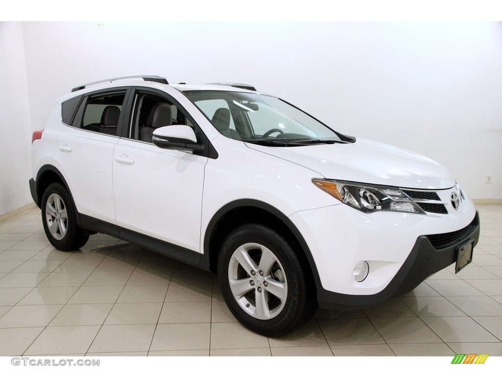 2014 super white toyota rav4 xle awd 119242249 gtcarlot. Black Bedroom Furniture Sets. Home Design Ideas