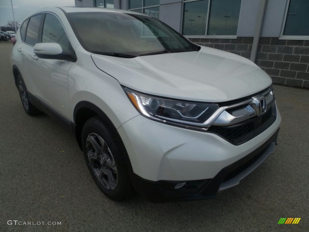 2017 CR-V EX-L AWD - White Diamond Pearl / Ivory photo #1
