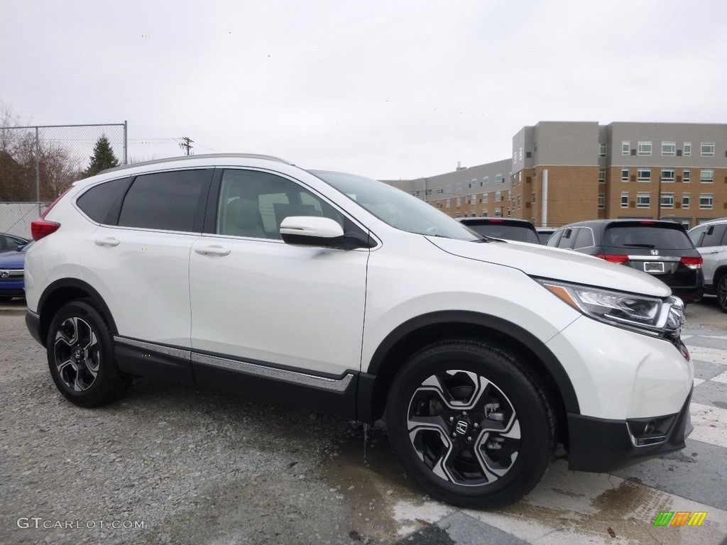 2017 CR-V Touring AWD - White Diamond Pearl / Ivory photo #1