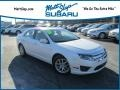 2012 White Platinum Tri-Coat Ford Fusion SEL #119281275