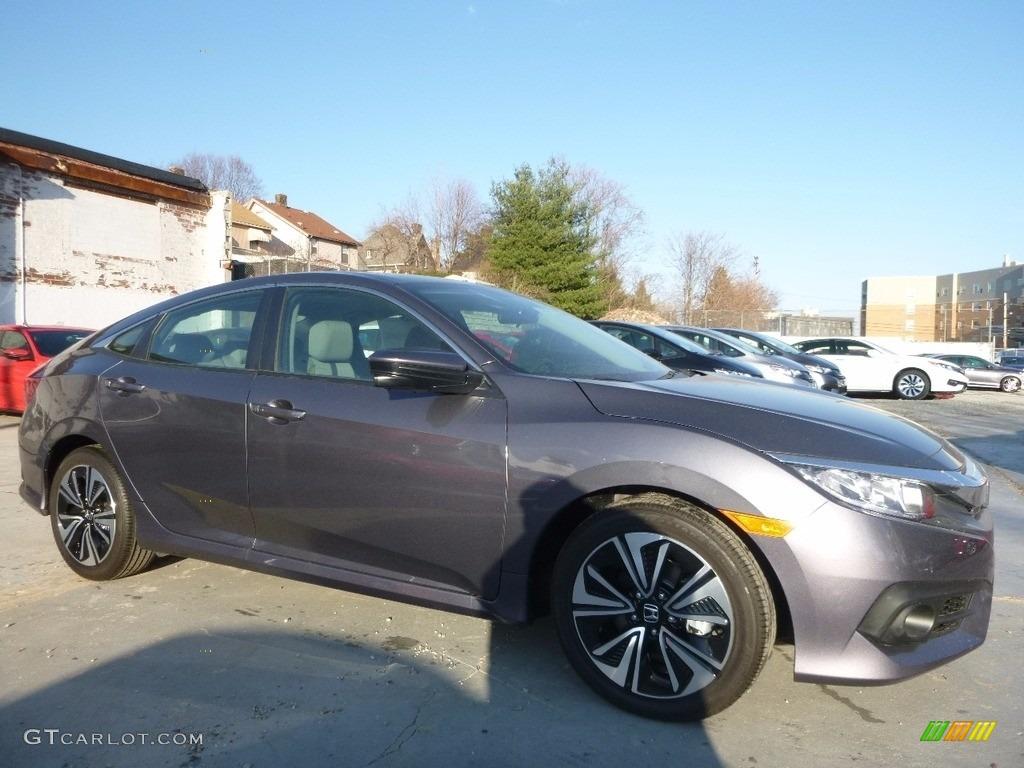 2017 modern steel metallic honda civic ex t sedan for Honda civic modern steel