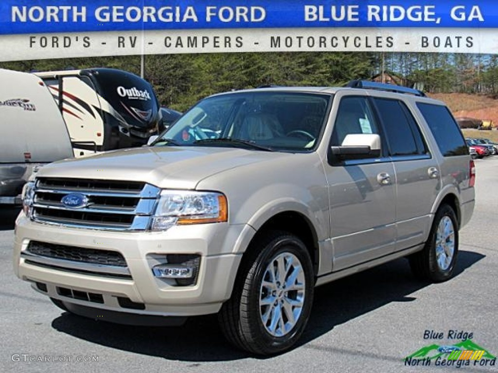 White Gold Expedition Ford