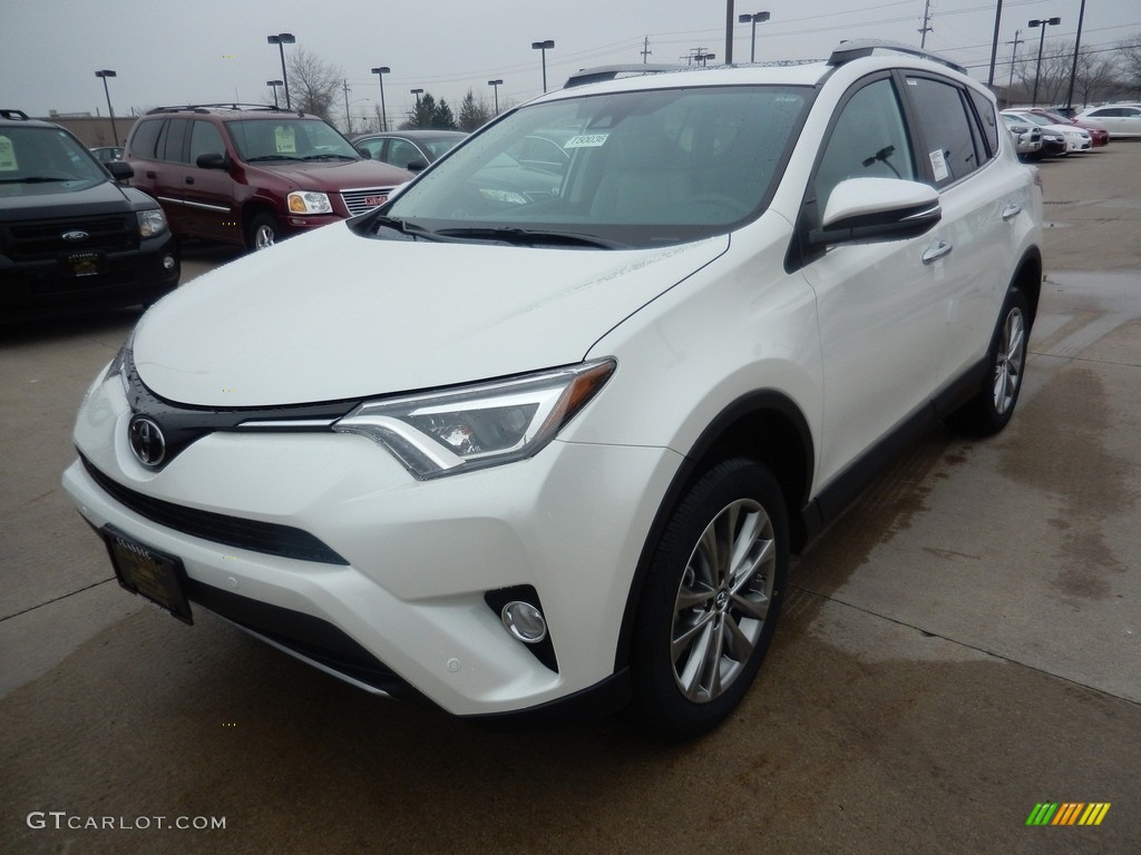 2017 blizzard pearl white toyota rav4 limited awd. Black Bedroom Furniture Sets. Home Design Ideas