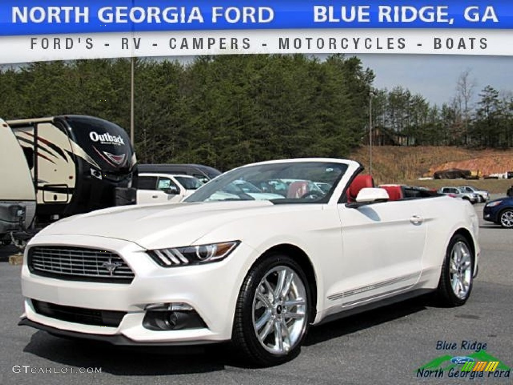 2017 White Platinum Ford Mustang Ecoboost Premium Convertible 119354793 Car