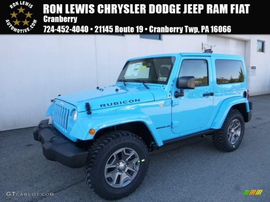 White Jeep Wrangler 2018 >> 2017 Chief Blue Jeep Wrangler Rubicon 4x4 #119384860 Photo #15 | GTCarLot.com - Car Color Galleries