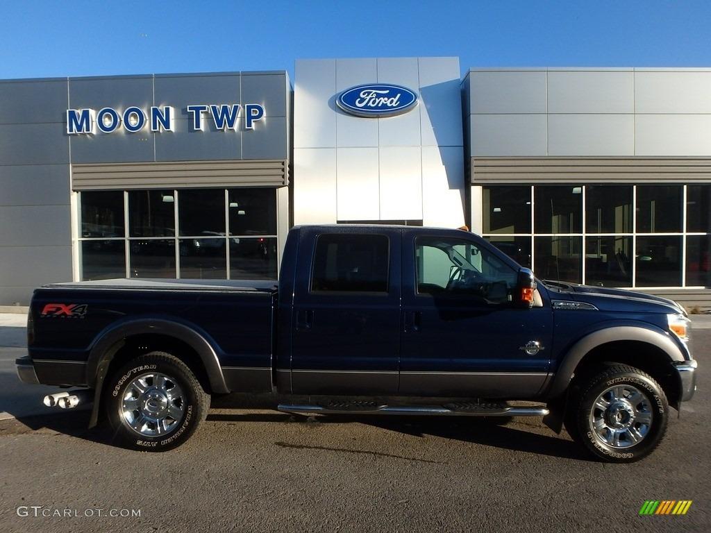 2012 dark blue pearl metallic ford f250 super duty lariat crew cab 4x4 119408249. Black Bedroom Furniture Sets. Home Design Ideas