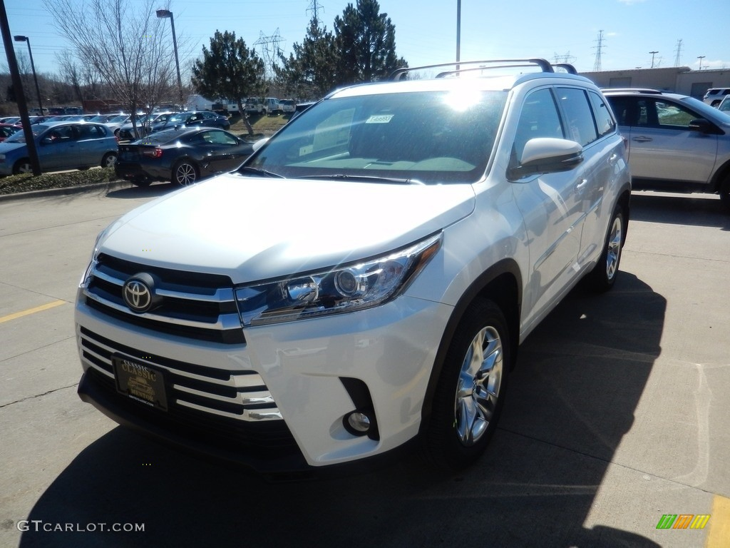 2017 Blizzard White Pearl Toyota Highlander Limited Awd 119408349