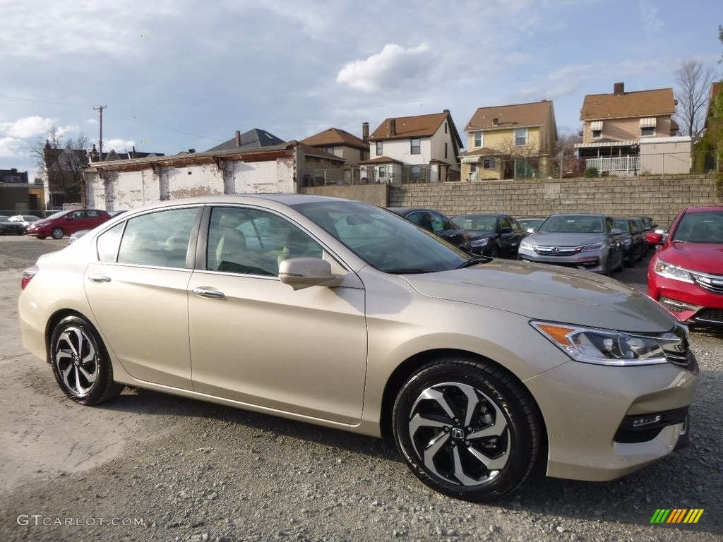 2017 Accord Ex Sedan Champagne Frost Pearl Ivory Photo 1