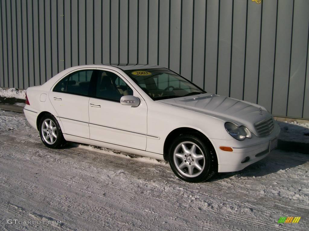 2003 alabaster white mercedes benz c 240 sedan 1189474 for Mercedes benz c 240