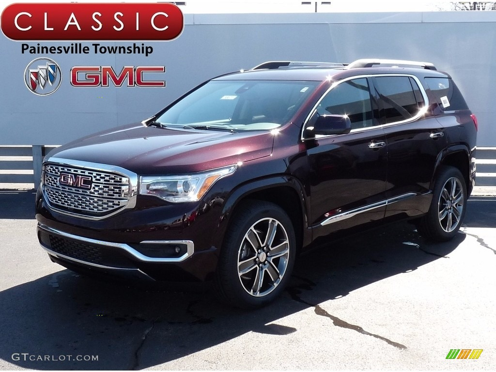 2017 Acadia Denali Awd Black Cherry Metallic Jet Photo 1