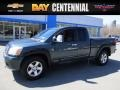 2004 Deep Water Blue/Green Nissan Titan XE King Cab 4x4 #119525843