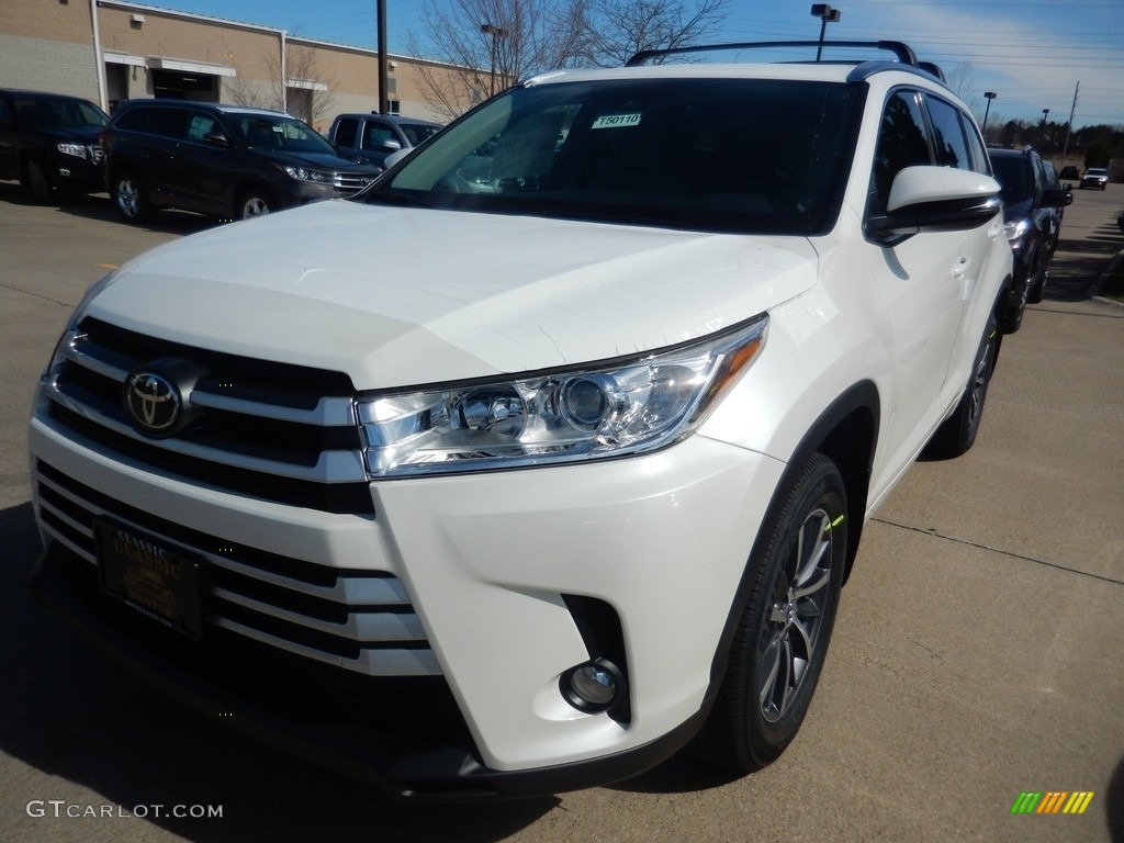 2017 blizzard white pearl toyota highlander xle awd 119553382 car color galleries. Black Bedroom Furniture Sets. Home Design Ideas