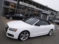 Glacier White Metallic 2012 Audi S5 3.0 TFSI quattro Cabriolet