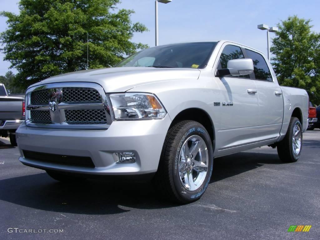 2009 bright silver metallic dodge ram 1500 sport crew cab 11892204 car color. Black Bedroom Furniture Sets. Home Design Ideas