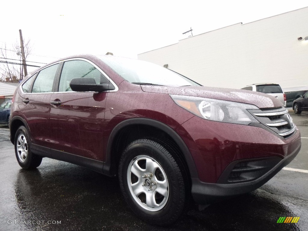 2013 CR-V LX AWD - Basque Red Pearl II / Gray photo #1