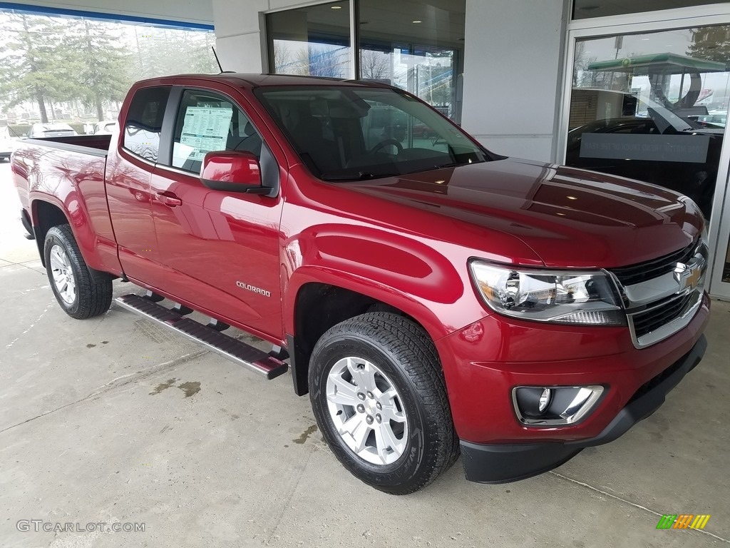 2017 Cajun Red Tintcoat Chevrolet Colorado Lt Extended Cab