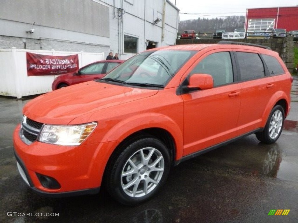 2017 Blood Orange Dodge Journey Sxt Awd 119577086 Photo
