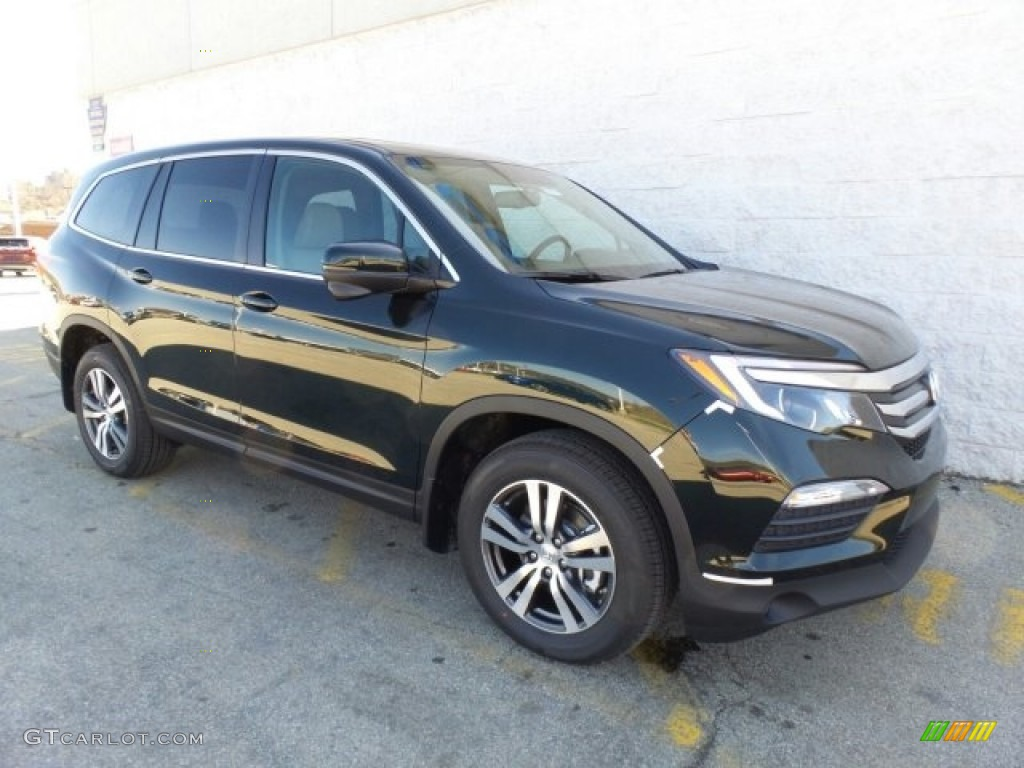 2017 black forest pearl honda pilot ex l awd 119577010 for Black honda pilot