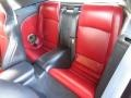 2012 Jaguar XK Red/Warm Charcoal Interior Rear Seat Photo