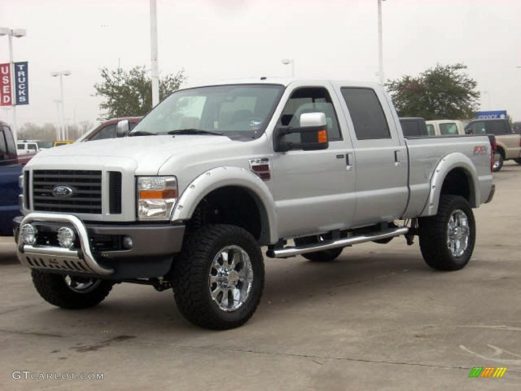 2008 silver metallic ford f250 super duty fx4 crew cab 4x4 1189030 car color. Black Bedroom Furniture Sets. Home Design Ideas