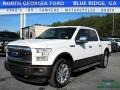 White Platinum Tricoat 2015 Ford F150 Lariat SuperCrew 4x4
