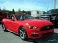 2017 Race Red Ford Mustang V6 Convertible  photo #7