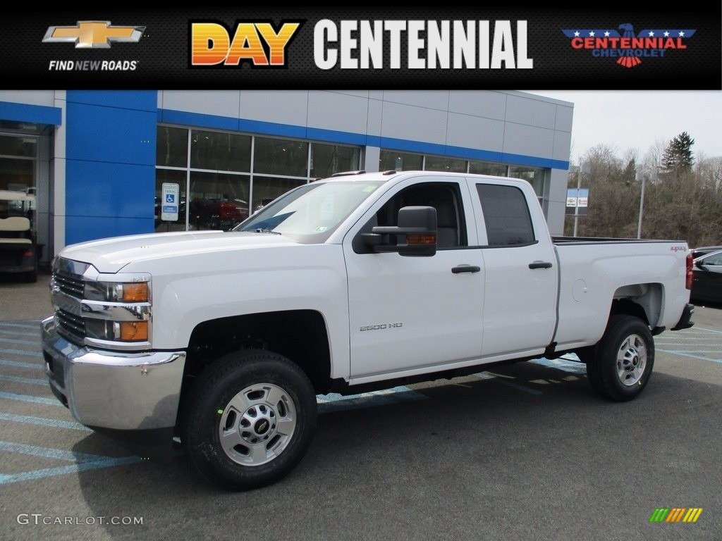2017 summit white chevrolet silverado 2500hd work truck double cab 4x4 119603986. Black Bedroom Furniture Sets. Home Design Ideas