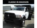 Bright White 2017 Ram 5500 Tradesman Regular Cab 4x4 Chassis
