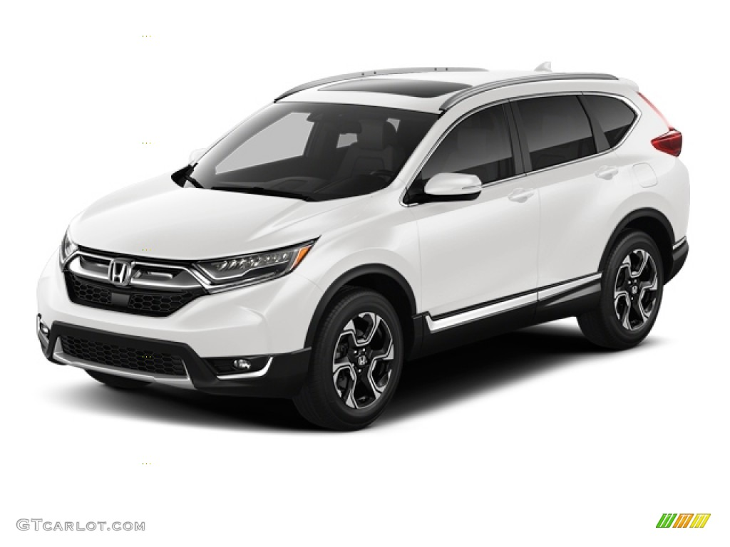 2017 CR-V Touring - White Diamond Pearl / Black photo #8
